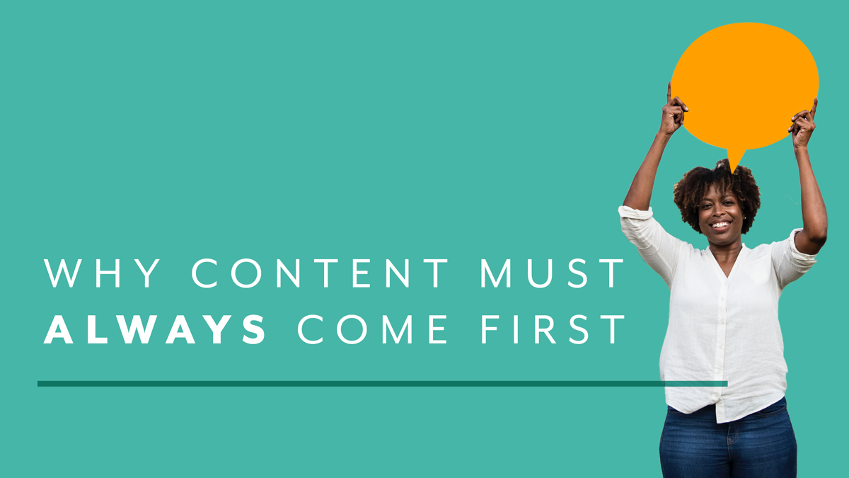Content First Always Graphic