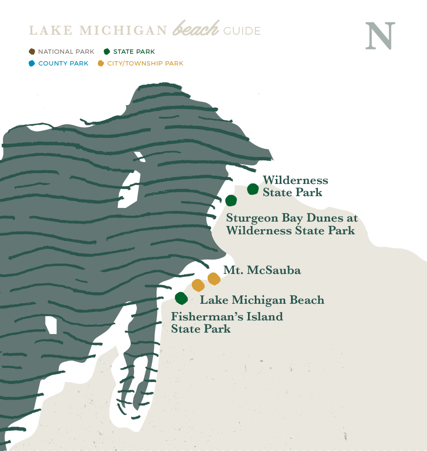 Northern Region Lake Michigan Beaches