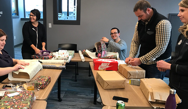 TIS & 616 Lofts Wrapping Presents
