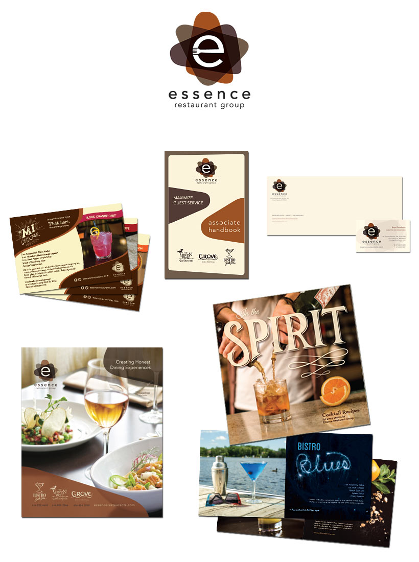 Essence Restaurant Group Branding Materials