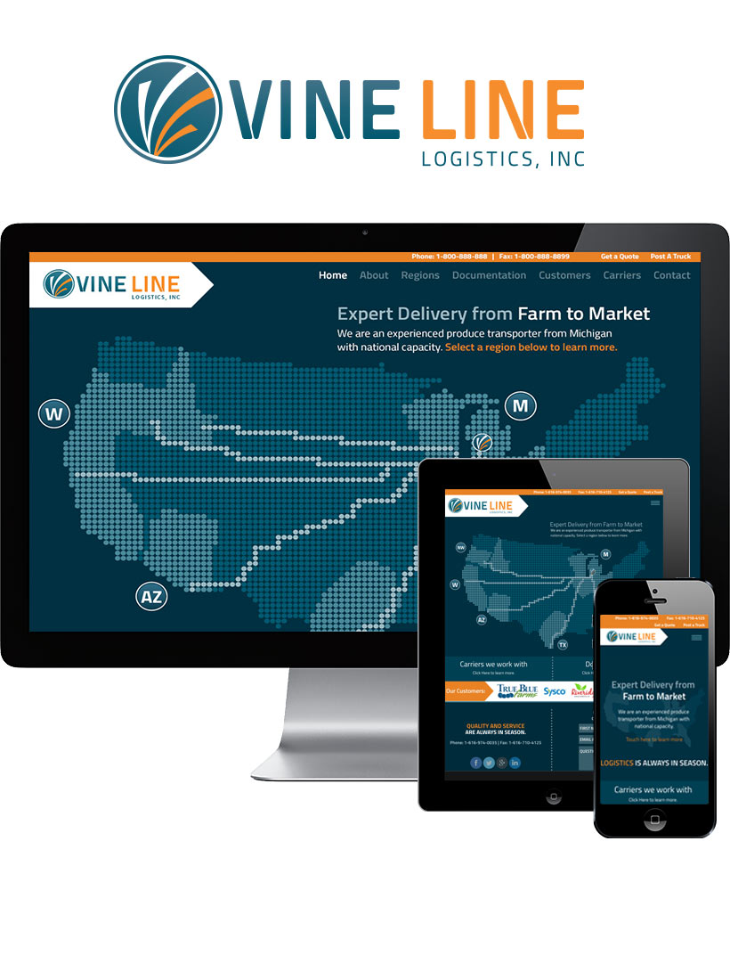 Vine Line Responsive Website Design & Development
