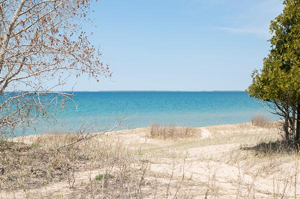 Sturgeon Bay Dunes Lake Michigan view