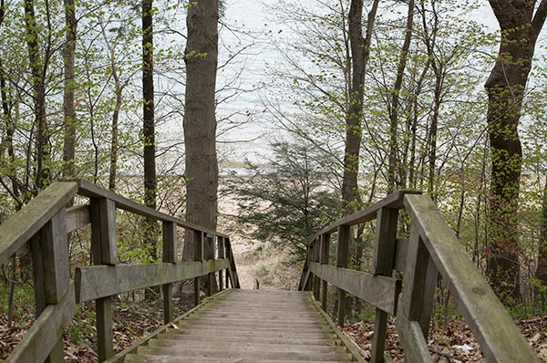 West Side County Park beach staircase